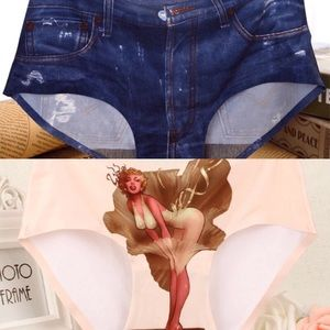 Other - 2 Pair 3D Luxury And Denim Panties